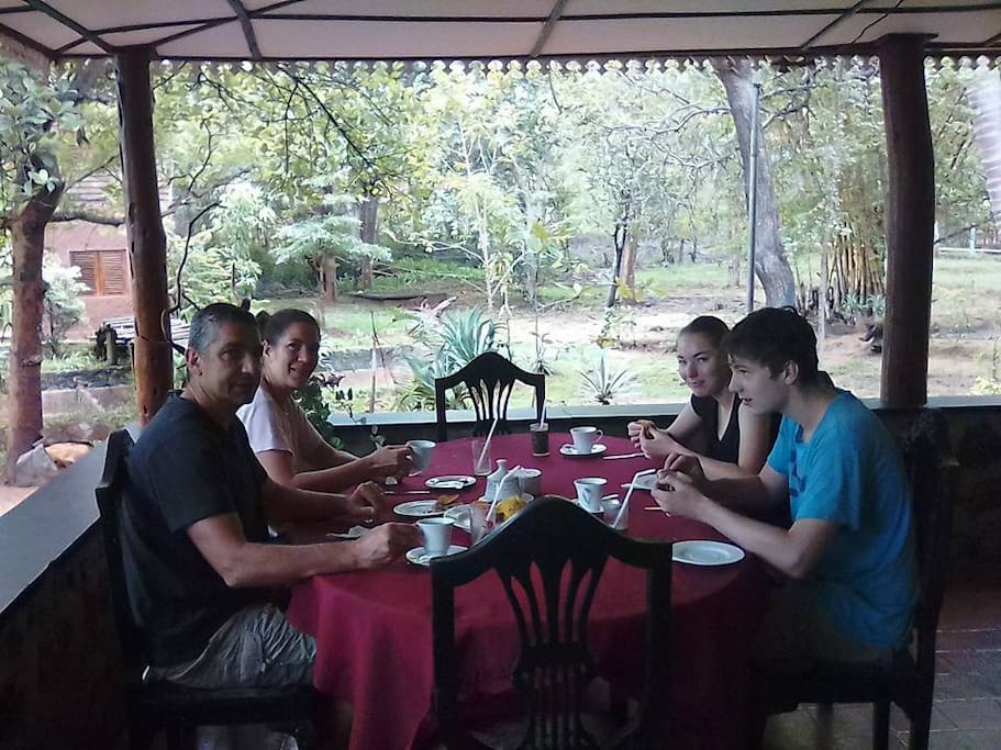 Breakfast at Eco Cottage