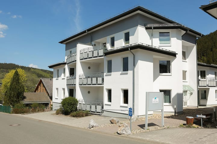 Modern apartment in Willingen with underground parking, balcony and a fantastic view