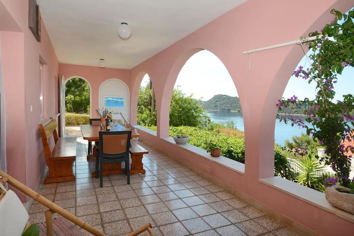 Two bedroom apartment with terrace and sea view Karbuni (Korčula) (A-13217-a)