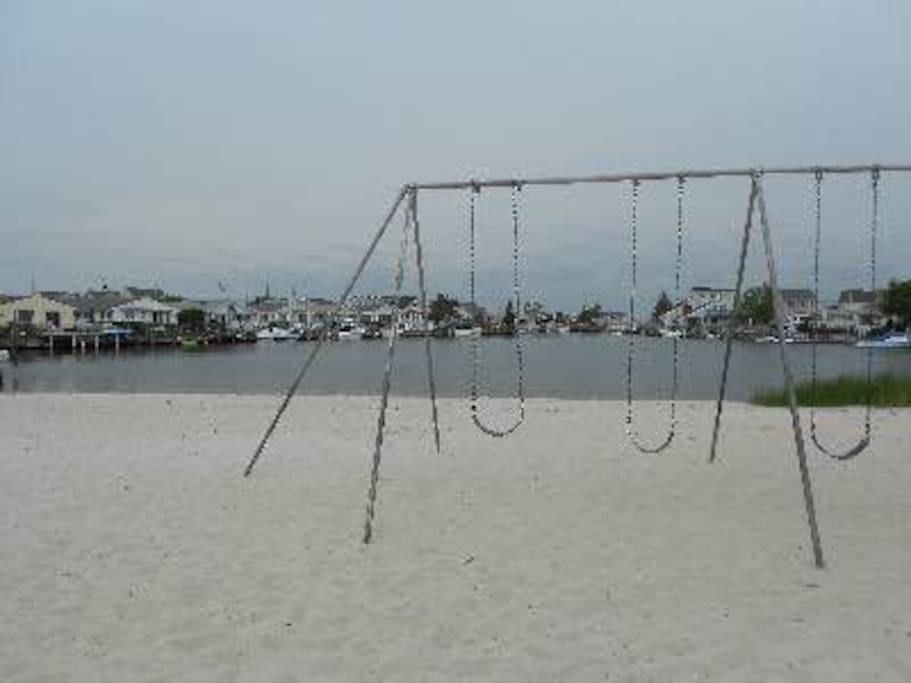 Swings at beautiful Bay-Beach