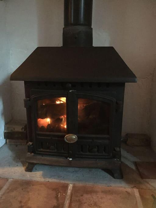 The cosy wood burner