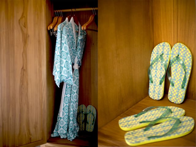 2 Bathrobes, 2 Slippers  Each Room and, In-room safety deposit box inside wardrobe