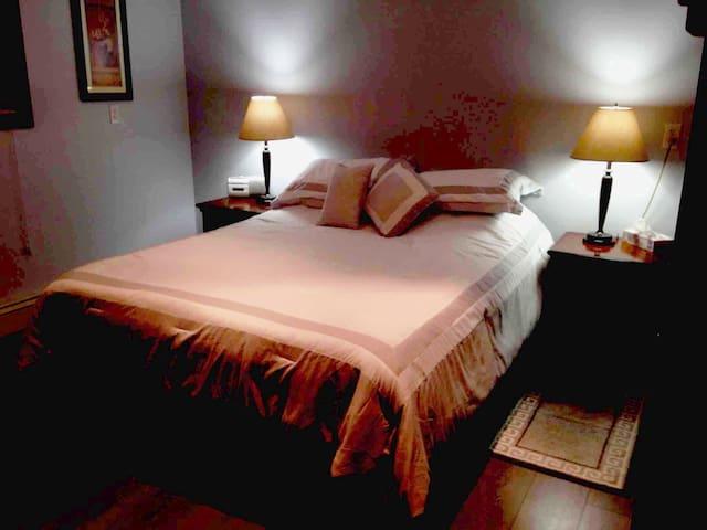 Comfortable spacious separate bedroom.