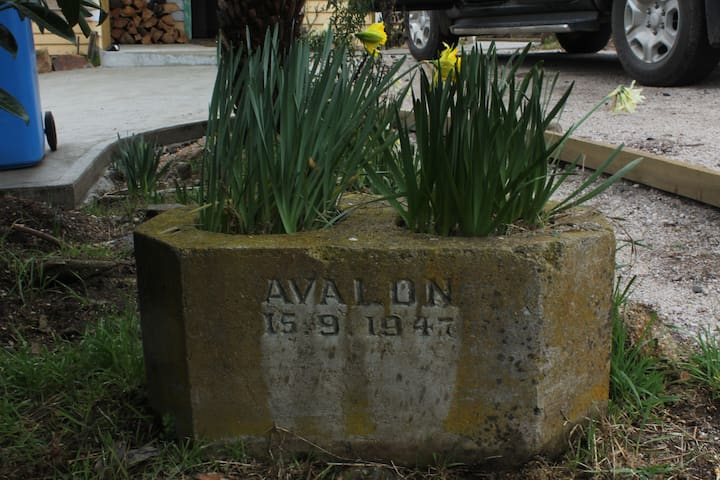 Avalon 15 Sept 1947 - Italian Armistice WWII (called the Avalon Agreement). This is where we our house's name came from. Clearly this was important to a previous owner of our house, so we decided to honor their acknowledgement of this important date.