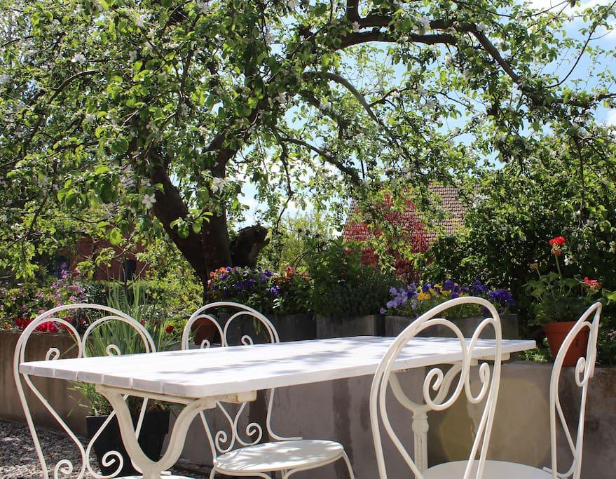 Vackra trädgårdsmöbler - en plats att njuta.