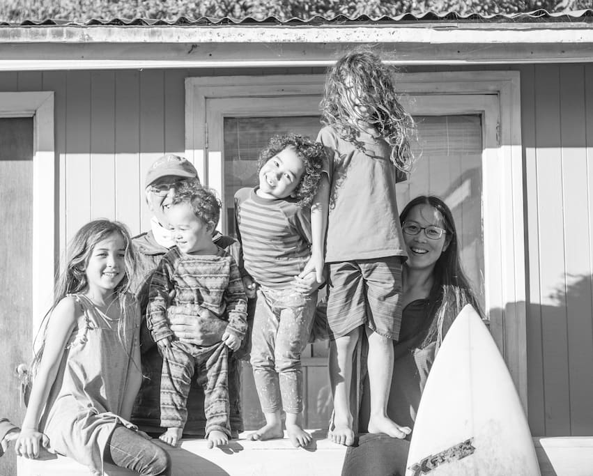 Beautiful family Sao Budwick staying in our surfhouse ❤️