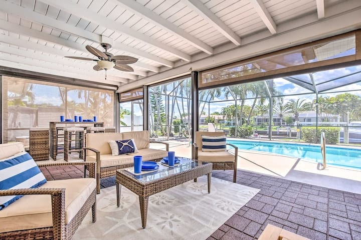 Cape Coral Waterfront Home w/Pool & Dock!