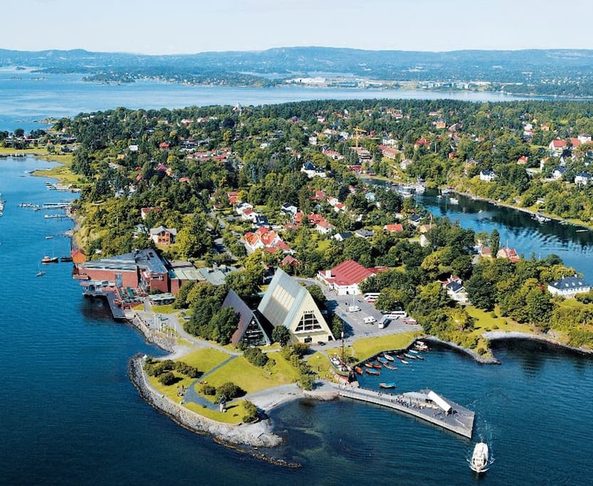 Bygdøy seen from the air