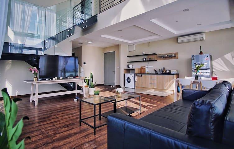 伴客家@市中心最美海景复式公寓超大空间 Imago步行5分钟