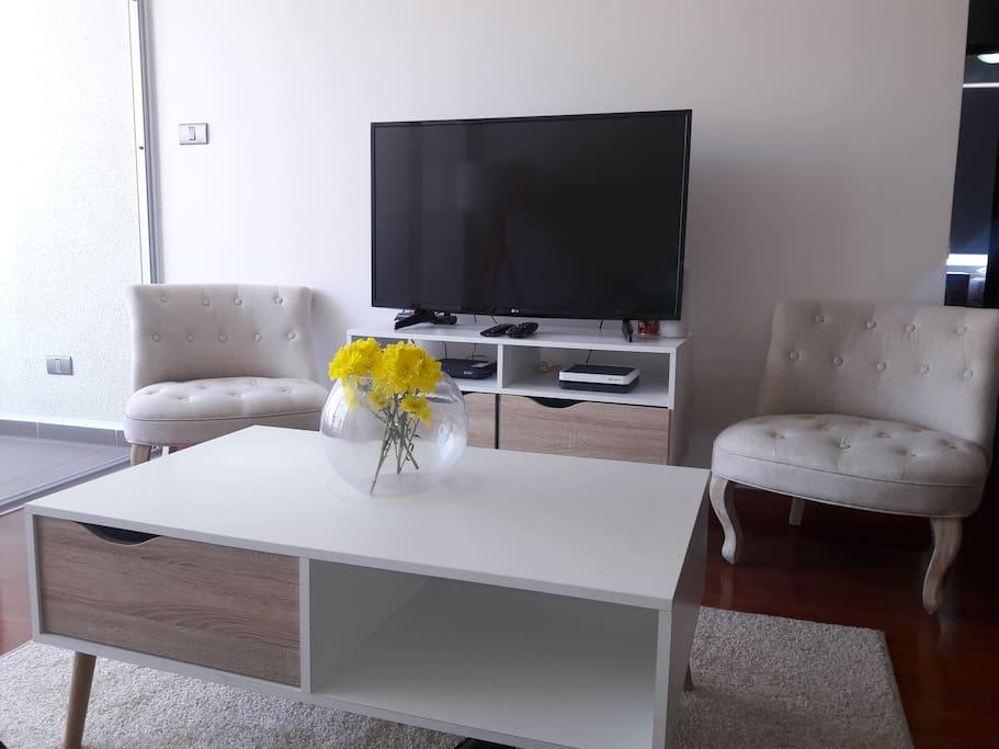 Equipado con la mejor tecnologia, SmartTv HD 4K. Television Satelital