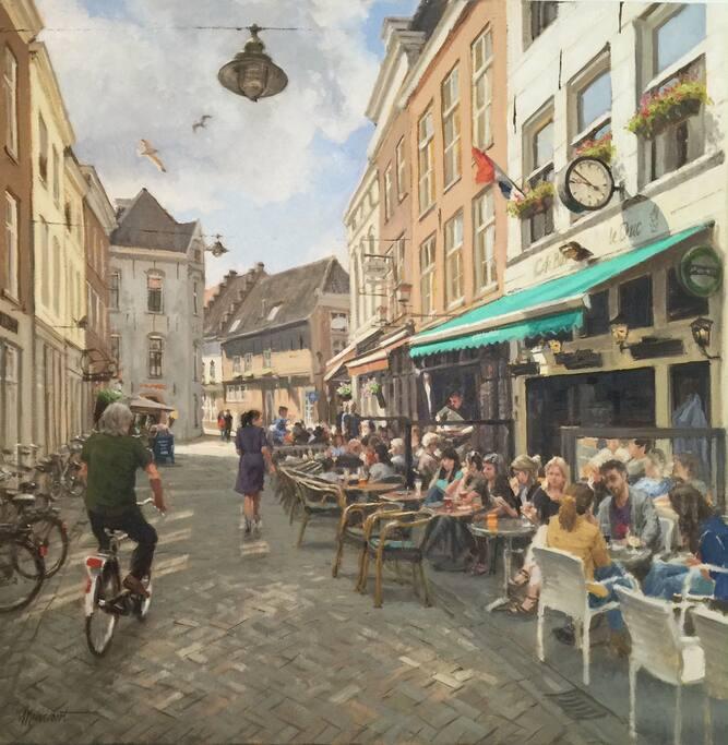 Dit schilderij van de Uilenburg is gemaakt door Richard van Mensvoort.