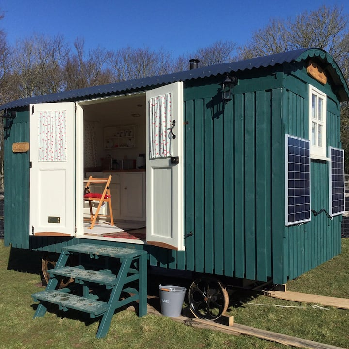 Shepherds Hut (PY) at Bluecaps Farm, Cousley Wood.