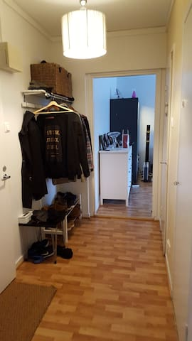 Big vestibule, lot of space for clothes.