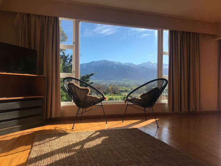 Lounge with Mt Fyffe views