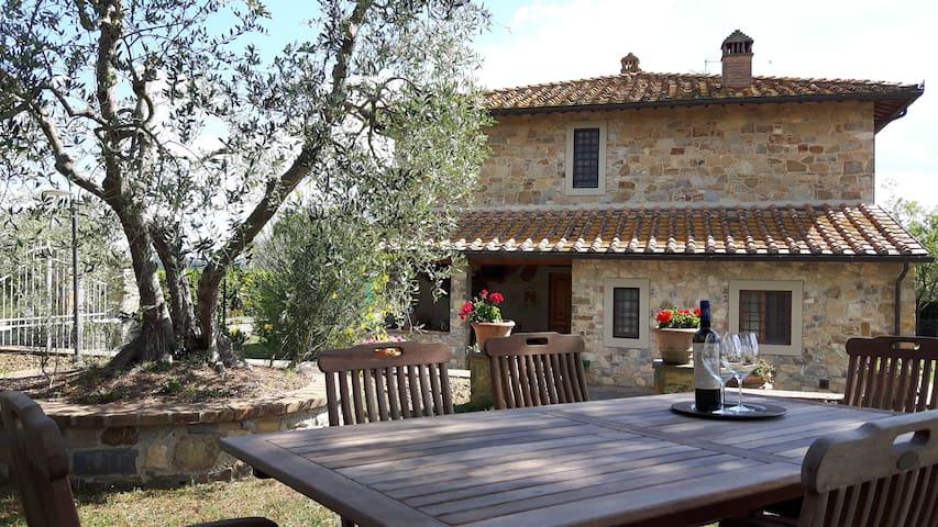 Casa panoramica nel Chianti tra Vigneti e Uliveti.