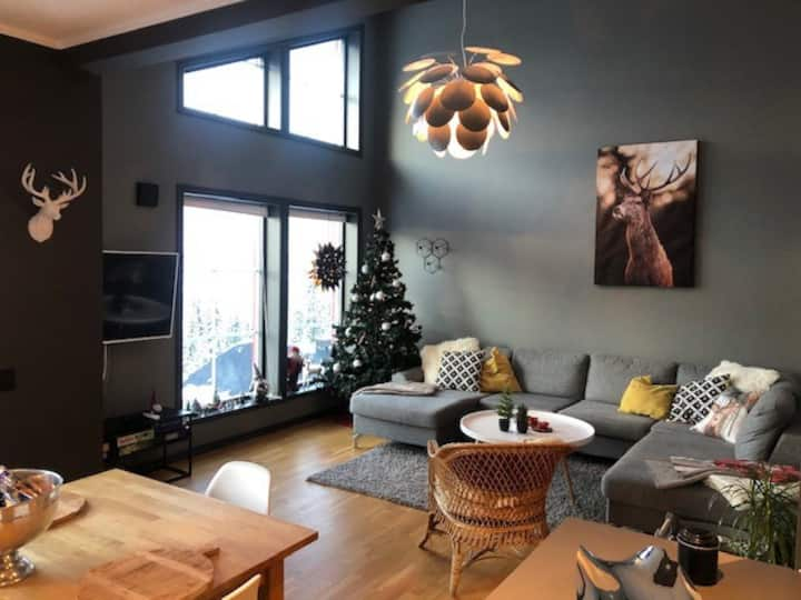 Innbydende leilighet med ski in/out i Björnen