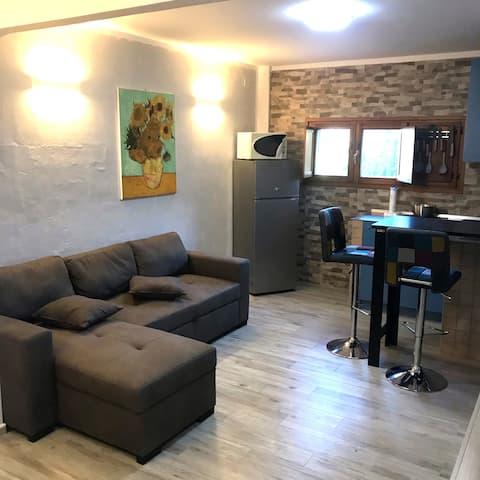Studio apartment adjacent to the airport.