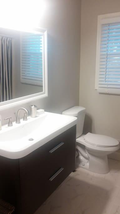 Hallway / full bathroom