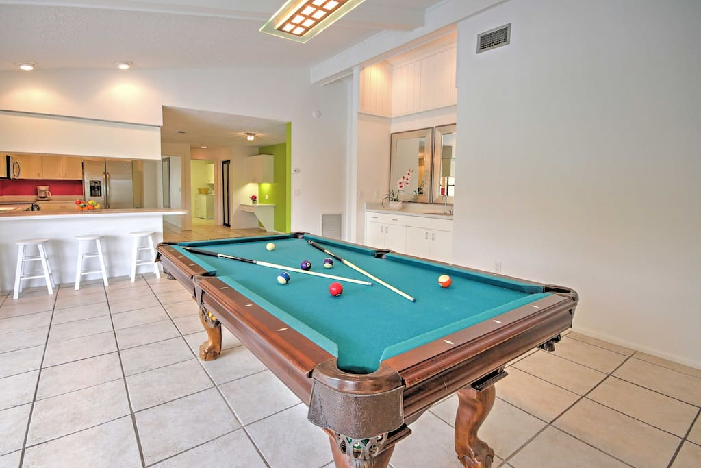 Enjoy game nights at home with this pool table.