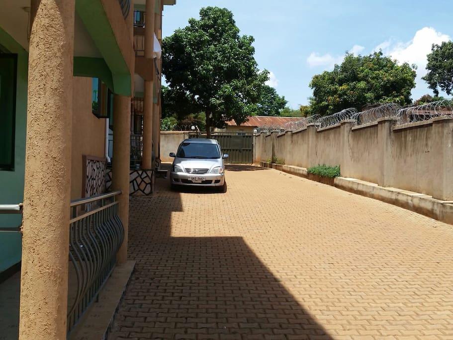 Compound / parking area
