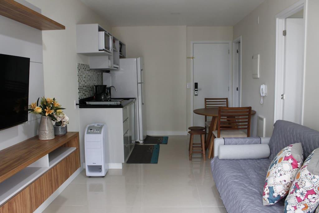 Apartamento novo e moderno em bairro residencial