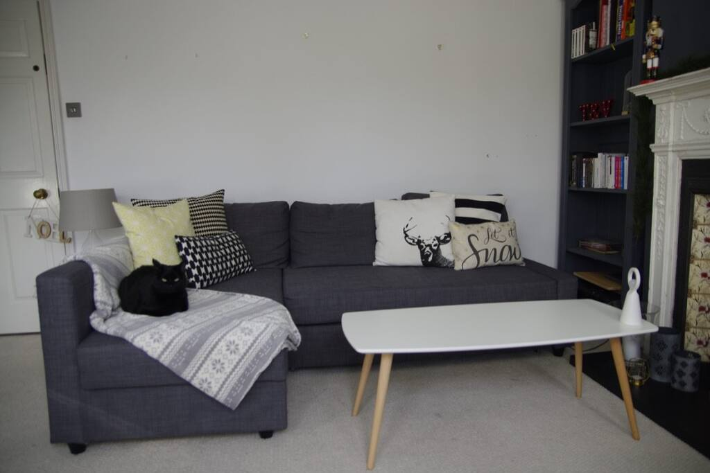 Sofa can be turned into a double bed