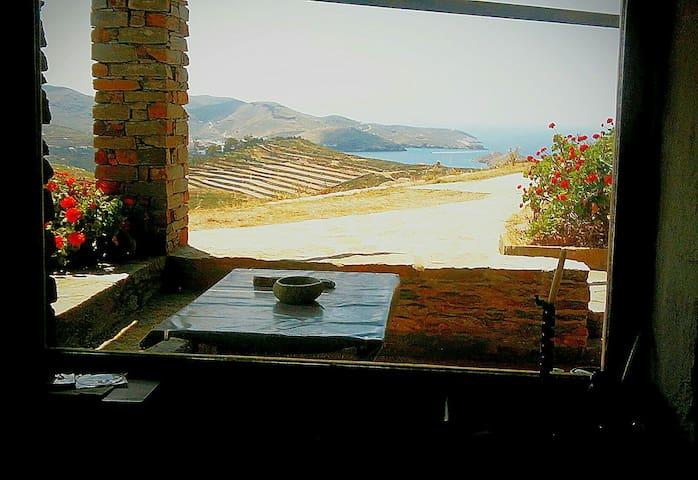 stone house with panoramic view - Otzias - 別荘