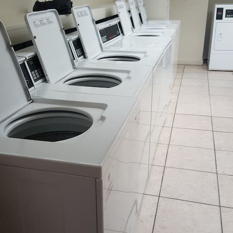 laundry room at the lower lobby