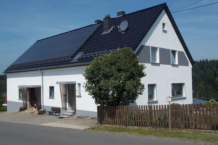 Comfortable home with large sunny garden in beautiful surroundings.