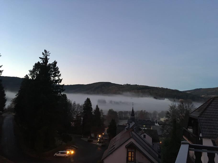 Vue du Balcon au dessus de la brume, par tout temps, on ne s'en lasse pas