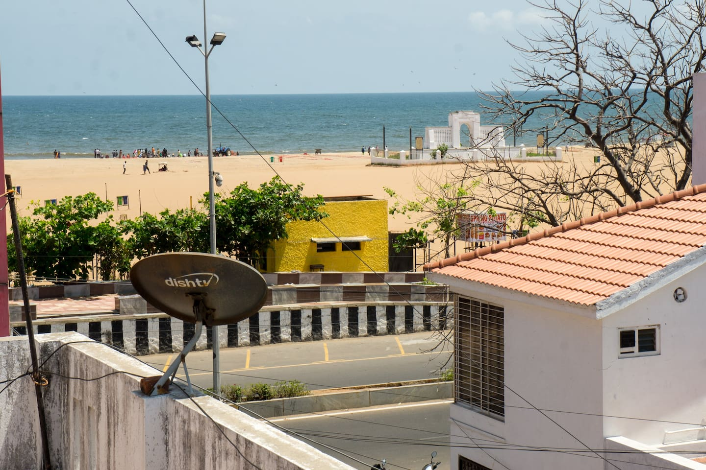 Beach view from terrace