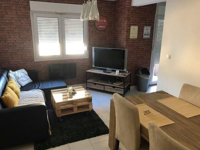 Appartement T2 centre ville 50m2 avec balcon