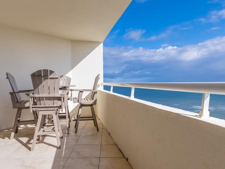 9th Floor Beach-Front Condo At Perdido Sun, Indoor & Outdoor Pool Hot Tub