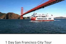 Happy to book your tour to San Francisco,Golden Gate Bridge,Union Square,Fisherman's Wharf,Financial District,Lombard St,Golden Gate Park,Civic Center,Market St,Chinatown,Palace of Arts,Twin Peak and more- Departure Daily at 8:20 AM