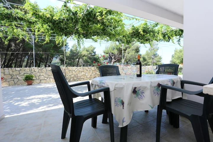 Two bedroom apartment with terrace and sea view Žuljana, Pelješac (A-10207-a)