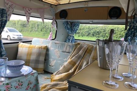 April the sunny Camper van