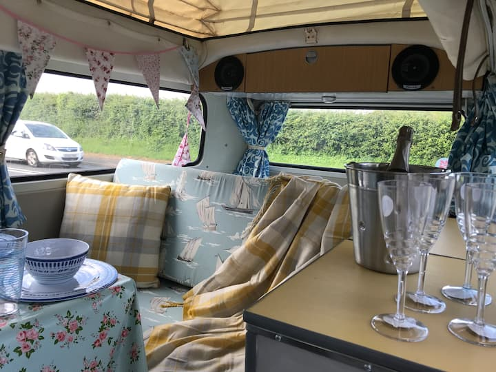 April the sunny Camper van