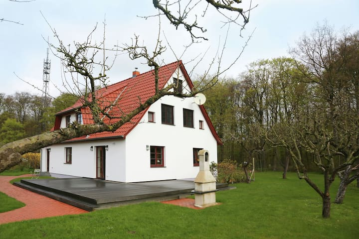 Upscale holiday home with sauna, jacuzzi and large garden terrace