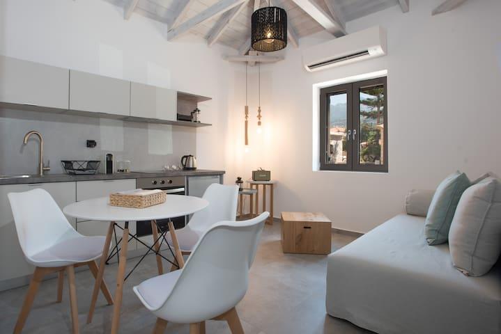 Luxury minimal suite, for 4, pet friendly near sea