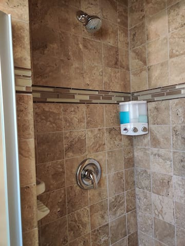 Renovated shower stall