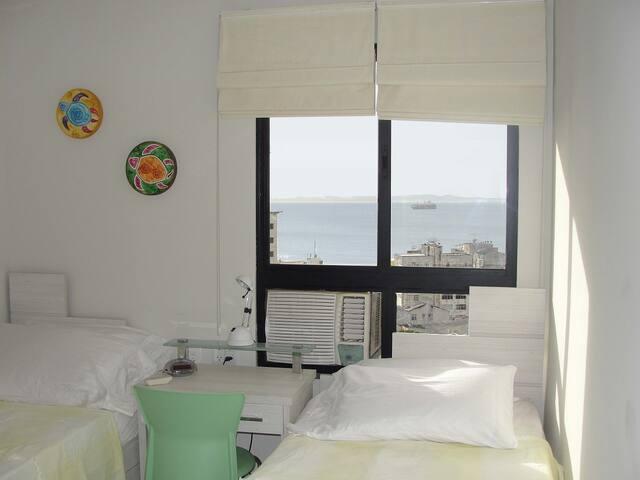 2o quarto/2nd Bedroom com ar condicionado/with airconditioner