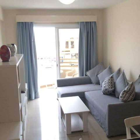 Living area leading onto balcony