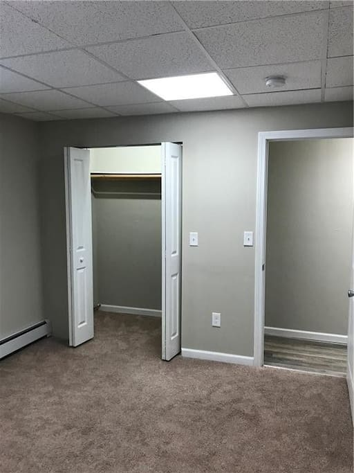 Medium closet in Mid-sized Basement BR