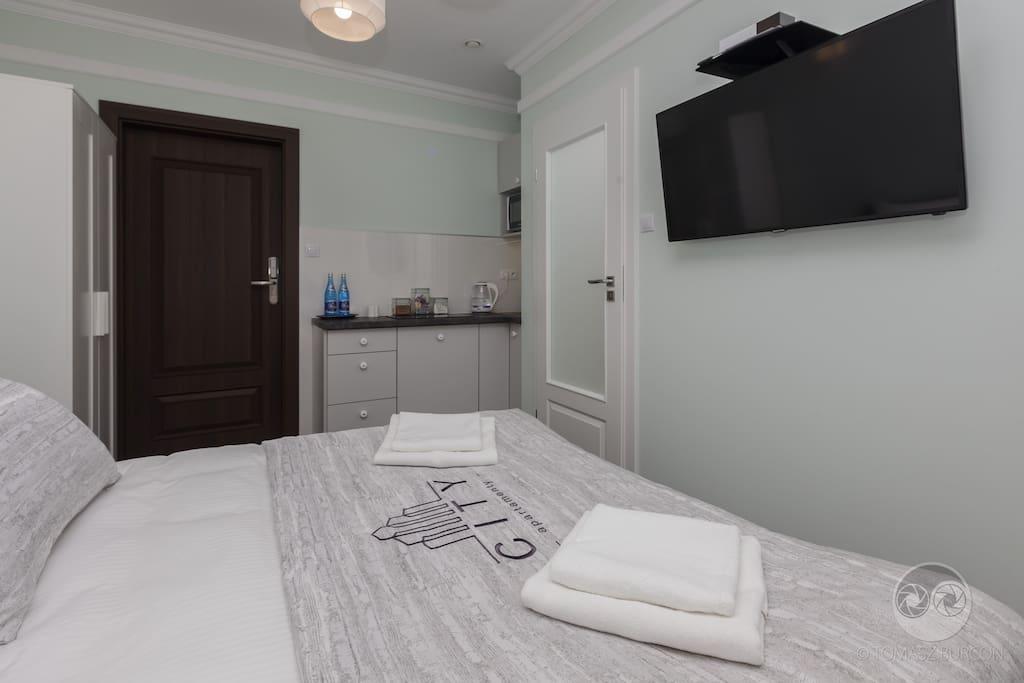 Apartament Skandynawski - sypialnia