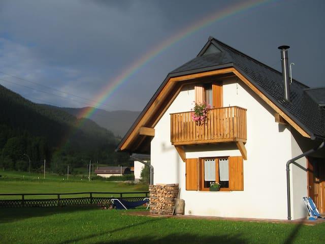 Casa con vista sui monti - Fusine in Valromana - Řadový dům