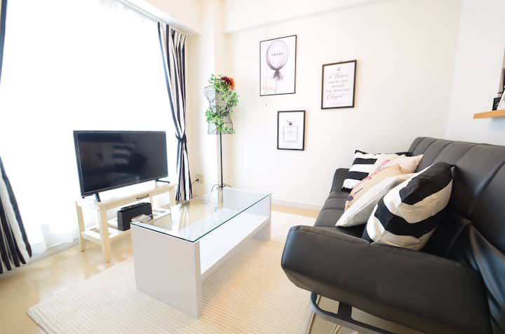 NEW! 8min to Sapporo sta by train!Free WiFi!AS435