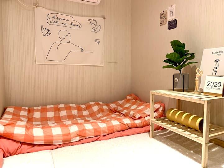 【粉色梦幻】位于东站附近温馨粉色女生间/近西湖/双地铁/可做饭/长租优惠