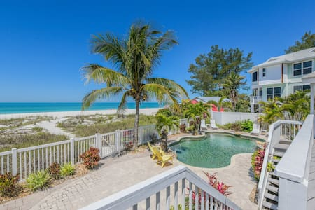 TOES IN THE SAND! GULF FRONT HOME WITH HEATED POOL