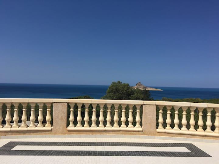 villa vue sur mer raf raf