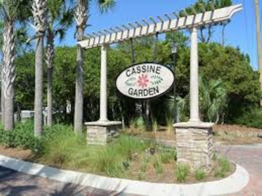 Entrance to Cassine Garden, right on 30A